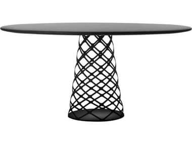 Gubi Aoyama Black Semi Matt 59'' Wide Round Dining Table GUB10186