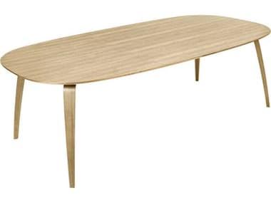 Gubi Oak Semi Matt Lacquered 90'' Wide Rectangular Dining Table GUB10018172