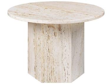 Gubi Epic White Travertine 23'' Wide Round Coffee Table GUB10042381
