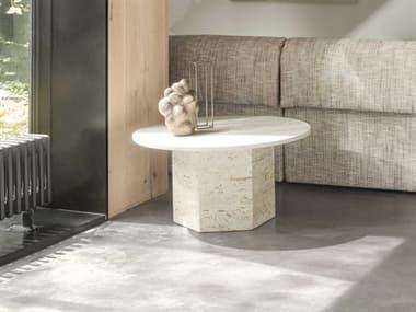 Gubi Epic White Travertine 31'' Wide Round Coffee Table GUB10042386