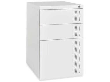 Gus* Modern White Perf File Cabinet GUMECOFPERFWH