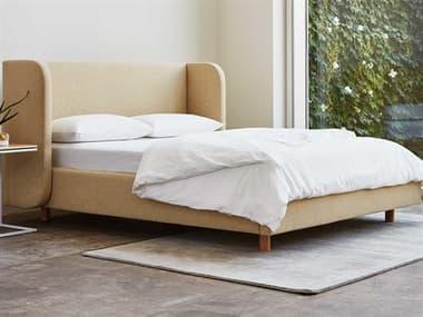 Gus* Modern Asheville Granby Flax / Ash Natural King Platform Bed GUMECBDASHEGRAFLAANKG