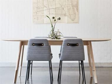 Gus* Modern Bracket White 78'' Wide Oval Dining Table GUMECDNBRACWWWW