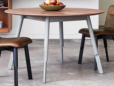 Gus* Modern Bracket 48'' Wide Round Dining Table GUMECDNBRARGRWN