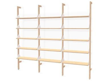 Gus* Modern Branch Ash Blonde / White Bookcase GUMKSSHBRA3AUWBAS