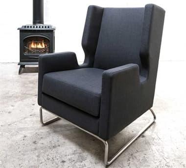 Gus* Modern Danforth Urban Tweed Ink Accent Chair GUMECCHDANFUI