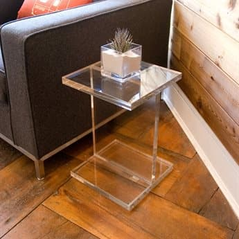 Gus* Modern Acrylic 12'' Wide Square End Table GUMECCTACIB
