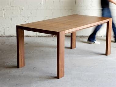 Gus* Modern Plank Walnut 72'' Wide Rectangular Dining Table GUMECDTPLANWA