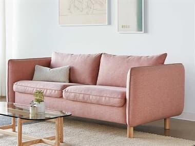Gus* Modern Rialto Dawson Rose / Ash Natural Sofa Bed GUMECSFRIALDAWROSASHLEG