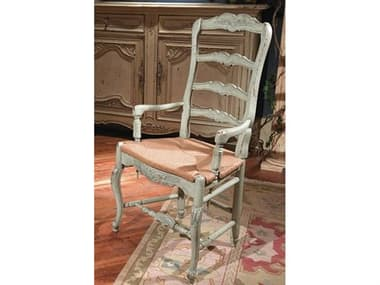 Habersham New Country French Dining Arm Chair with Rush Seat HA435039