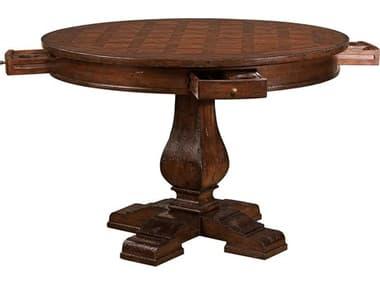 Hekman Havana Antique 44 Round Pub Game Table HK81250