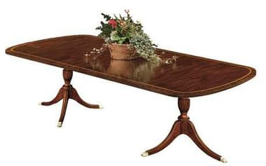 Henkel Harris 72 x 46 Rectangular Double Pedestal Dining Table HH2207