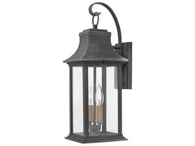 Hinkley Lighting Adair Aged Zinc Two-Light 7'' Wide Outdoor Wall Light HY2934DZ