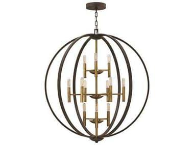Hinkley Lighting Euclid Spanish Bronze 12-Light Chandelier HY3469SB