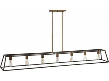 Hinkley Lighting Fulton Bronze Seven-Light 65'' Wide Incandescent Island Ceiling Light HY3355BZ