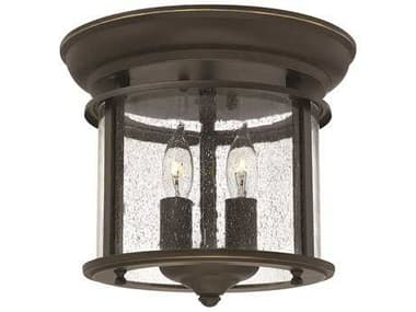 Hinkley Lighting Gentry Olde Bronze Two-Light Flush Mount Light HY3472OB