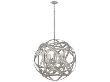 Hinkley Lighting Weathered Zinc 5-light Glass LED Outdoor Hanging Light HY29705WZLL