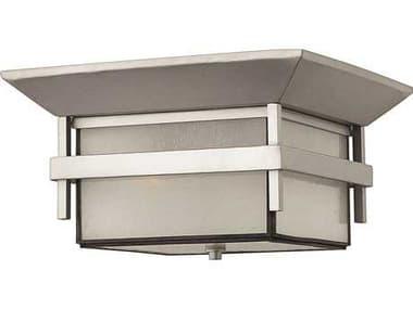 Hinkley Lighting Harbor Titanium Two-Light Incandescent Outdoor Ceiling Light HY2573TT