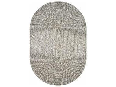Homespice Decor Ultra Durable Braided Rugs Light Grey / Dark Grey Oval Area Rug HOSLATELIGHTGREYOVA