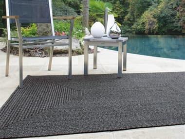 Homespice Decor Ultra Durable Braided Rugs Black / Grey Rectangular Area Rug HOBLACKBLACKREC