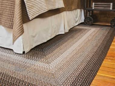 Homespice Decor Ultra Durable Braided Rugs Grey / Black / Chocolate Rectangular Area Rug HOMIDNIGHTMOONGREYREC