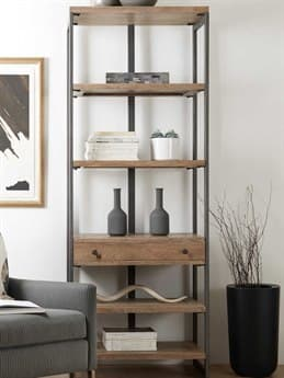 Hooker Furniture Gray / Medium Natural Wood Bookcase HOO568110445MWD