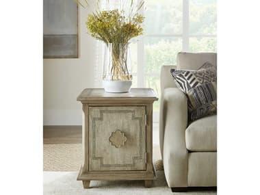 Hooker Furniture Alfresco Weathered Shale / Light Tusk 22'' Wide Rectangular End Table HOO60255000683