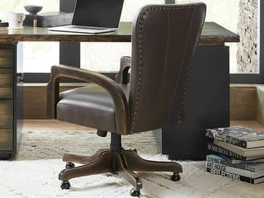 Hooker Furniture American Life - Crafted Dark Wood Executive Chair HOO165430220DKW1