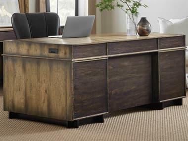 Hooker Furniture American Life - Crafted Dark Wood Executive Desk HOO165410563DKW1
