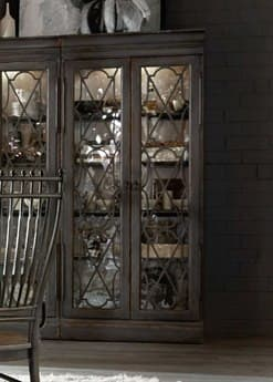 Hooker Furniture Arabella Gray Bunching Display Cabinet HOO161075906AGRY