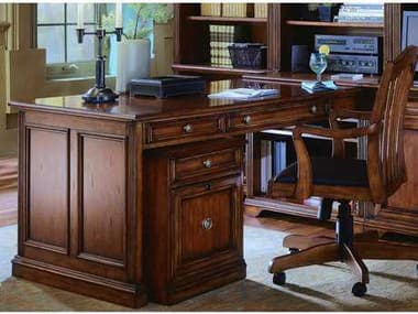 Hooker Furniture Brookhaven Distressed Medium Cherry 82''L x 32''W Rectangular Computer Desk HOO28110411