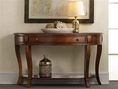 Hooker Furniture Brookhaven Distressed Cherry 52''L x 18''W Demilune Console Table HOO28180151