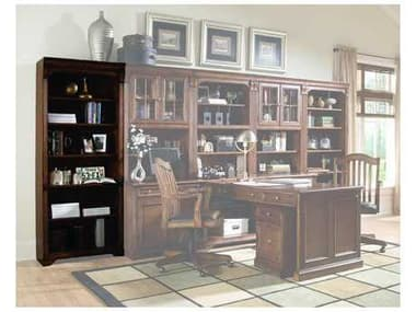 Hooker Furniture Brookhaven Lightly Distressed Medium Brown Tall Bookcase HOO28110422