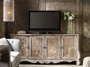 Hooker Furniture Chatelet Caramel Froth and Paris Vintage 90''L x 20''W Rectangular Credenza Buffet HOO535185001