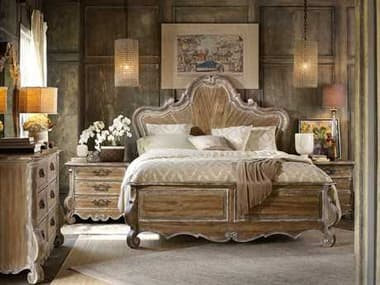 Hooker Furniture Chatelet Wood Panel Bed Bedroom Set HOO530090266SET