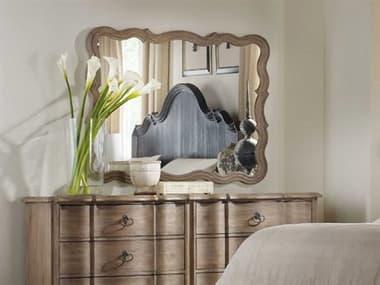 Hooker Furniture Corsica Light Wood 37''W x 47''H Rectangular Landscape Wall Mirror HOO518090004
