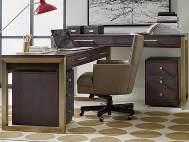 Hooker Furniture Curata Midnight 68''W x 26''D Rectangular L-Shaped Desk HOO160010453DKW