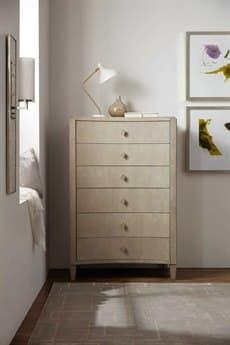 Hooker Furniture Elixir Serene Gray Beige 38''W x 59''H Rectangular Six-Drawer Chest of Drawer HOO599090010LTWD