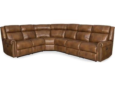 Hooker Furniture Esme Carmel Four-Piece Power Sectional Sofa HOOSS461PS185