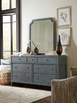 Hooker Furniture Hamilton Double Dresser with Wall Mirror Set HOO577090002GRYSET