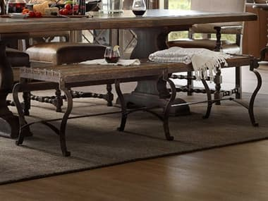 Hooker Furniture Hill Country Timeworn Saddle Brown Ozark Accent Bench HOO596090019MTL