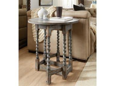 Hooker Furniture La Grange Blue 24'' Wide Round End Table HOO69605000645