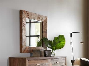 Hooker Furniture L'Usine Medium Wood 40'' Wide Square Wall Mirror HOO595090004MWD