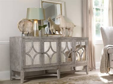 Hooker Furniture Melange Light Wood 68''L x 19''W Rectangular Diamante Console Buffet HOO63885102