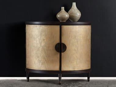 Hooker Furniture Melange Gold 40''W x 21''D Em Demilune Accent Chest Cabinet HOO63885314GLD