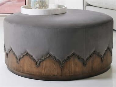 Hooker Furniture Melange Deep Fog / Medium Wood Ottoman HOO6385044885