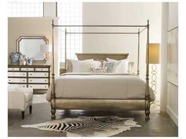 Hooker Furniture Melange Champagne King Size Montage Poster Bed HOO63890966