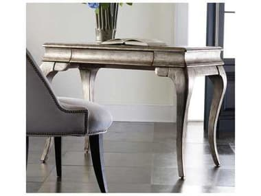 Hooker Furniture Melange Silver with Gold 42''W x 24''D Rectangular Palladium Writing Desk HOO63850053