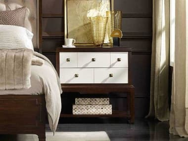 Hooker Furniture Palisade White, Cream & Beige 32''W x 17''D Rectangular Nightstand HOO518590116