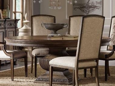 Hooker Furniture Rhapsody Rustic Walnut 72'' Wide Round Dining Table HOO507075213